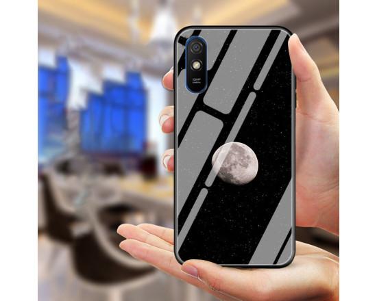 Глянцевый силиконовый бампер для Xiaomi Redmi 9a с картинкой - Луна