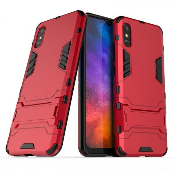 IronMan ультратонкий защитный бампер для Xiaomi Redmi 9a Красный