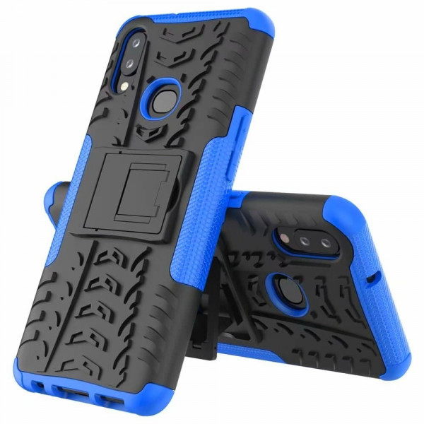 Бронированный бампер для Samsung A10s Синий