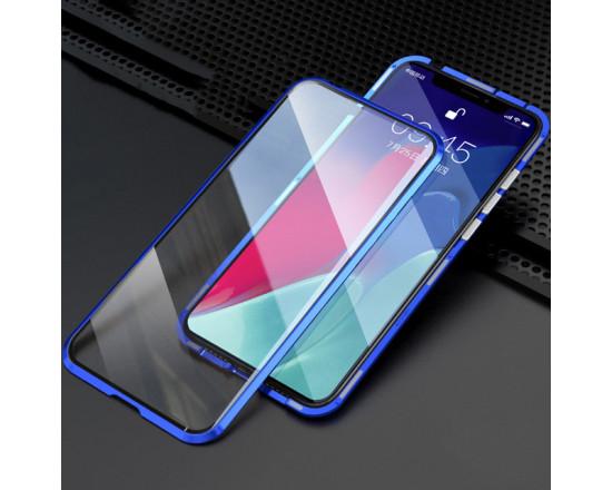 Двухсторонний магнитный чехол для Samsung A10s Синий