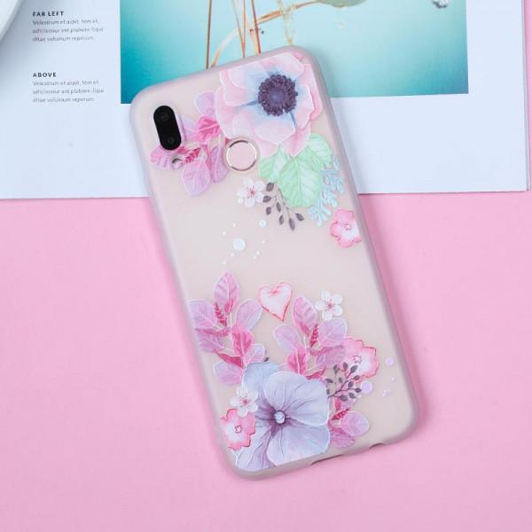 Рельефный силиконовый чехол для Samsung A10s с картинкой Цветочная композиция