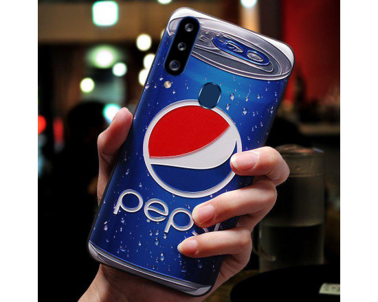 Силиконовый чехол для Samsung A20s с 3d-принтом Пепси