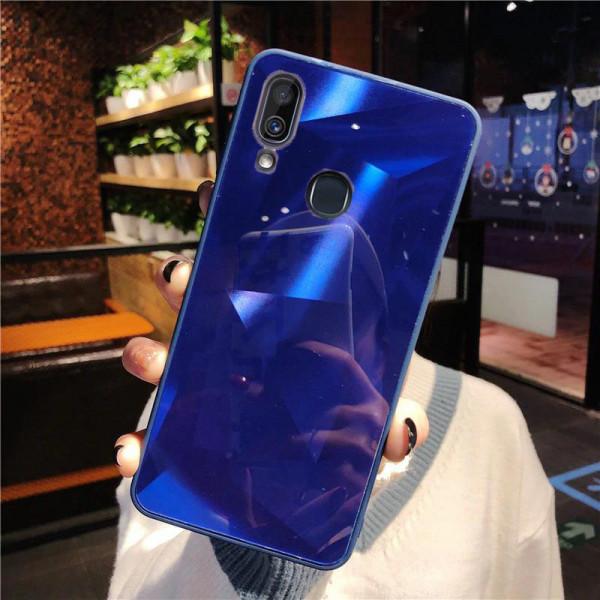Силиконовый чехол с зеркальным покрытием для Samsung Galaxy A30/A20 Синий