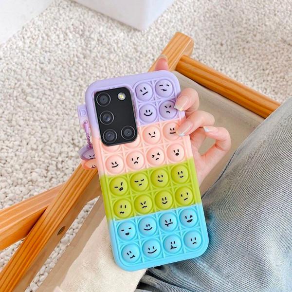 Силиконовый чехол-антистресс Pop it Smile для Samsung A31