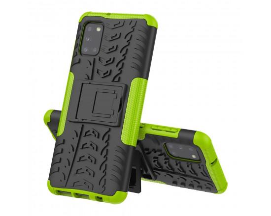 Бронированный бампер для Samsung A31 Зелёный