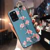 Силиконовый чехол для Samsung Galaxy A31 с ремешком-подставкой Магнолия