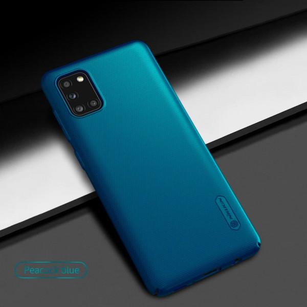 Чехол бампер Nillkin Frosted shield для Samsung A31 Синий