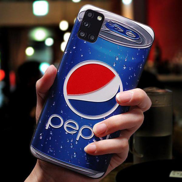 Силиконовый чехол для Samsung A31 с 3d-принтом Пепси