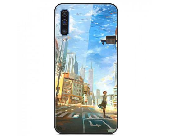 Глянцевый силиконовый чехол для Samsung Galaxy A50s/A50/A30s Нью-Йорк
