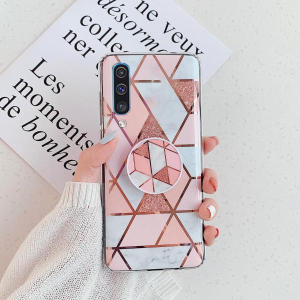 Силиконовый чехол с принтом и попсокетом для Samsung A30s/A50/A50s Розовый