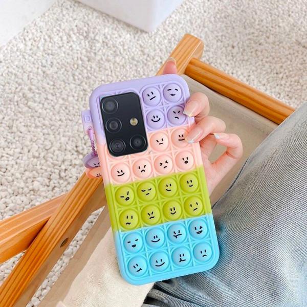 Силиконовый чехол-антистресс Pop it Smile для Samsung A51