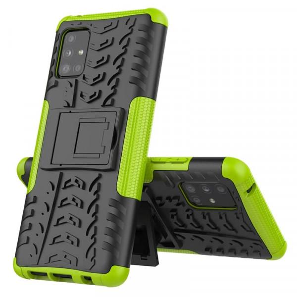Бронированный бампер для Samsung A51 Зелёный