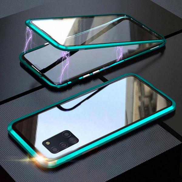 Двухсторонний магнитный чехол для Samsung A31 Бирюзовый