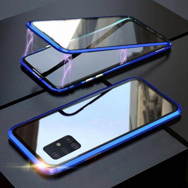 Двухсторонний магнитный чехол для Samsung A51 Синий