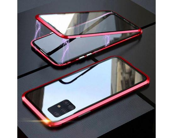 Двухсторонний магнитный чехол для Samsung A51 Красный