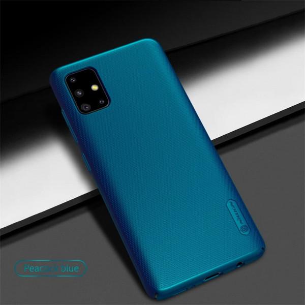 Чехол бампер Nillkin Frosted shield для Samsung A51 Синий