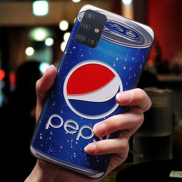 Силиконовый чехол для Samsung A71 с 3d-принтом Пепси