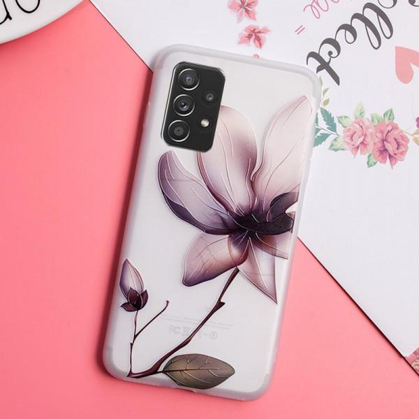 Рельефный силиконовый чехол для Samsung A32 с картинкой Магнолия