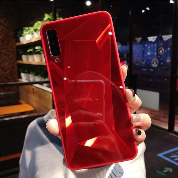 Силиконовый чехол с зеркальным покрытием для Samsung A10 Красный