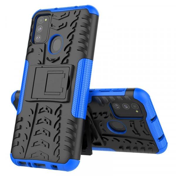 Бронированный бампер для Samsung M30s/M21 Синий