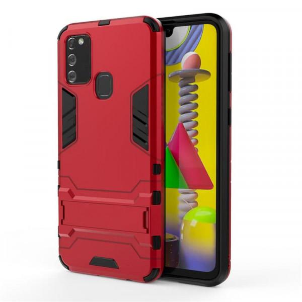 IronMan ультратонкий защитный бампер для Samsung M30s/M21 Красный