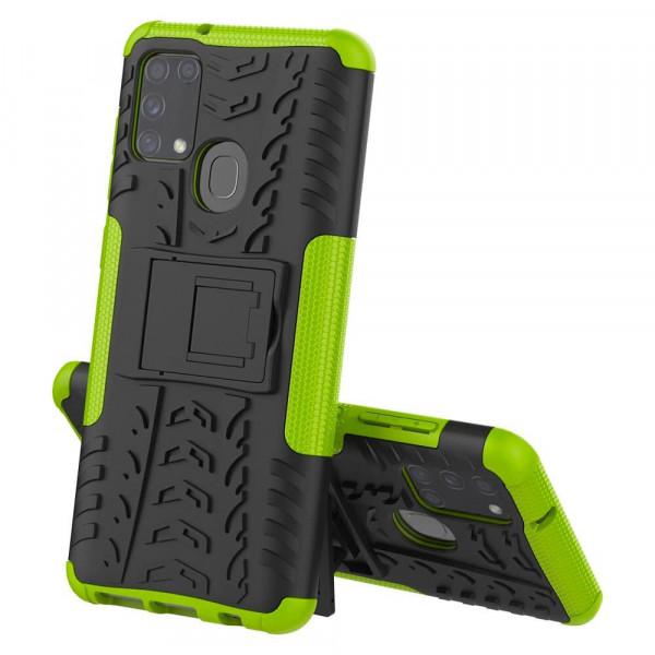 Бронированный бампер для Samsung M31 Зелёный