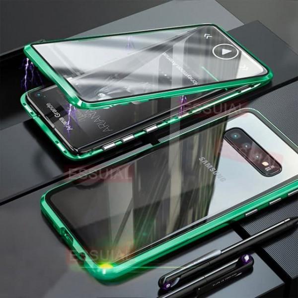 Двухсторонний магнитный чехол для Samsung S10 Бирюзовый