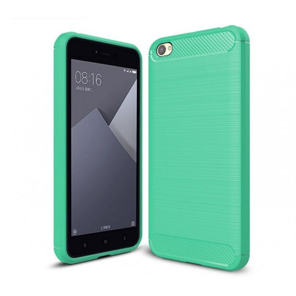 Силиконовый чехол с карбоновой вставкой для Xiaomi Redmi Note 5a