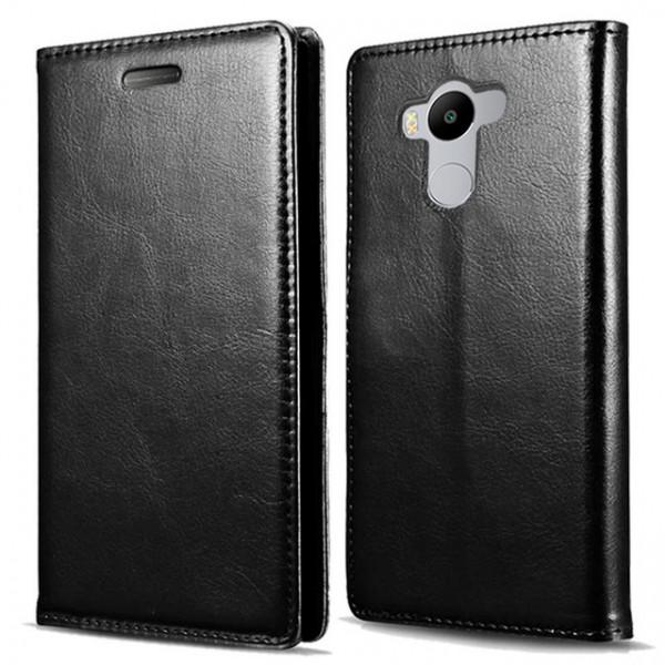 Кожаный чехол-книжка для Xiaomi RedMi 4