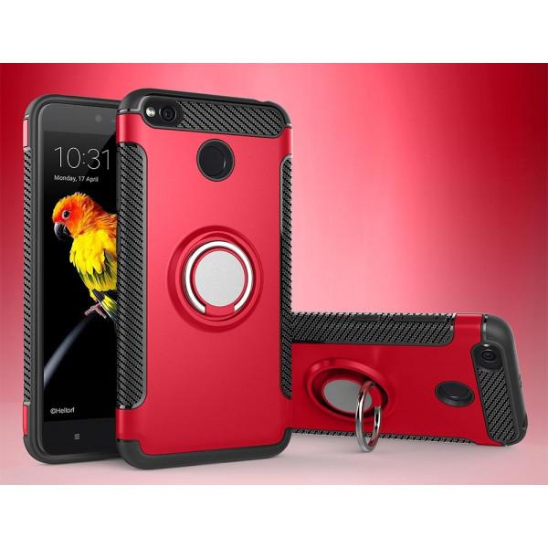 Противоударный бампер для Xiaomi RedMi 4X с кольцом-держателем