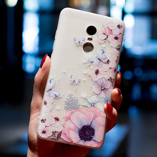 Рельефный силиконовый чехол для Xiaomi Redmi Note 4x с картинкой