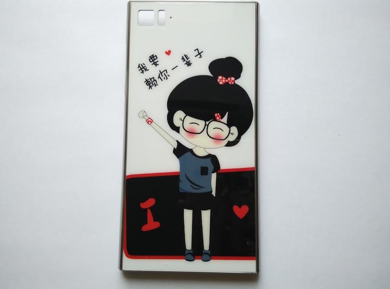 Металлический бампер с рисунком для Xiaomi Mi3 (3 видов)