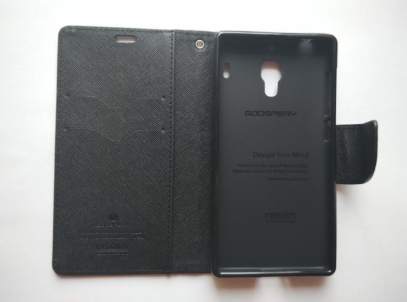 Купить кожаный чехол-книжка GooSpery для Xiaomi Red Rice/1s (чёрный) в Украине