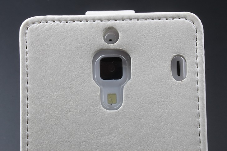 Купить откидной кожаный чехол-книжка для Xiaomi Red Rice/1s (чёрный)